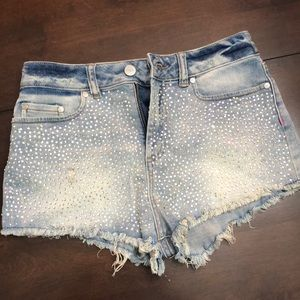 Victoria's Secret PINK Rhinestone Cheeky Shorts
